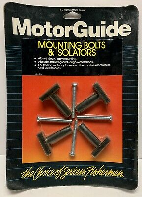 MotorGuide Original1986 Mounting Bolts & Isolators New Factory Sealed Packaging