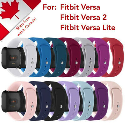 Sport Solid Silicone Watch Band Strap Bracelet for Fitbit Versa & Versa 2 / Lite