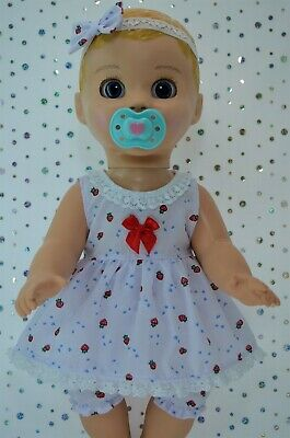"Play n Wear Dolls Clothes For 17"" Luvabella  STRAWBERRY DRESS~BLOOMERS~HEADBAND"