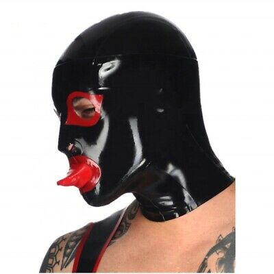 Party Mask Cosplay Kinky Hood Latex Rubber Hood Fetish Mask Latex Hooded 0.4mm