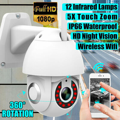 UK 1080P HD WIFI IP PTZ Camera Wireless Outdoor CCTV  Home Security IR Cam 2MP