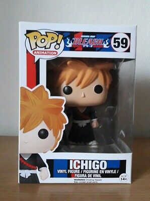 Funko Pop Bleach Ichigo 59 Japan Anime Animation Figure Rare FREE pop protector
