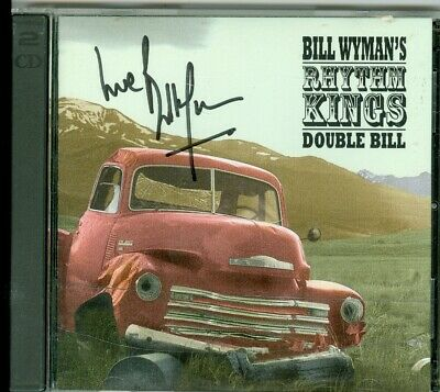 Bill Wyman The Rolling Stones hand signed autographed 2 CD Rhythm Kings Double