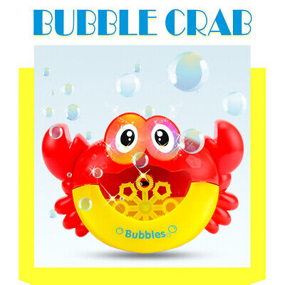 Crab Music Automatic Bubble Blowing Maker Machine w/Flashing Light Party