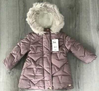 Mothercare Baby Girls Warm Winter Coat Age 3-6 Months New With Tags
