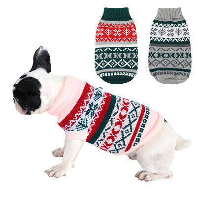 Christmas Xmas Cosy Dog Jumper Small Sweater Snowflake Reindeer for Chihuahua