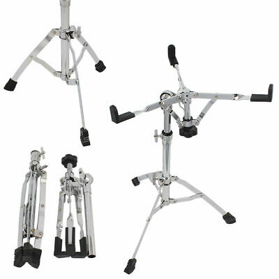 Snare Drum Stand Chrome Hardware Double Extended Height Silver UK