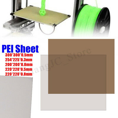 5 Sizes Choose PEI Sheet Polyetherimide Build Surface 3D Printer w/ Adhesive AU