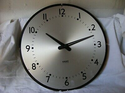 vintage GENT of LEICESTER electric wall clock-restoration project/untested