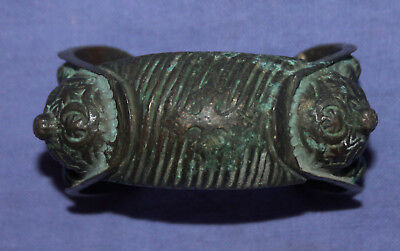 Antique Medieval Crusader Fertility Woman Bronze Bracelet