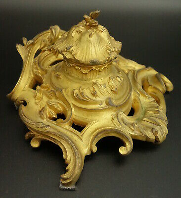 Inkwell Period Louis Xv ( Era 18Th ) - Bronze - French Antique