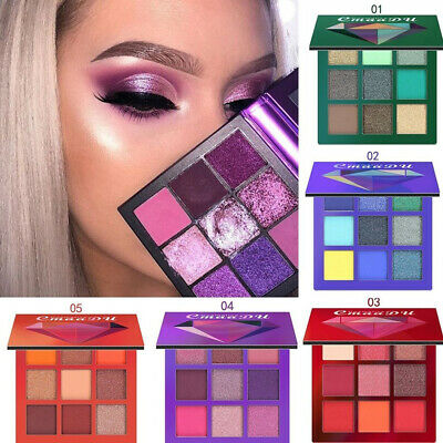 CmaaDu 9 Colors Eyeshadow Palette Beauty Makeup Shimmer Matte Gift Eye Shadow