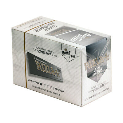 Rizla Silver Cigarette Rolling Paper 100 Booklets (Full Box) New Pack