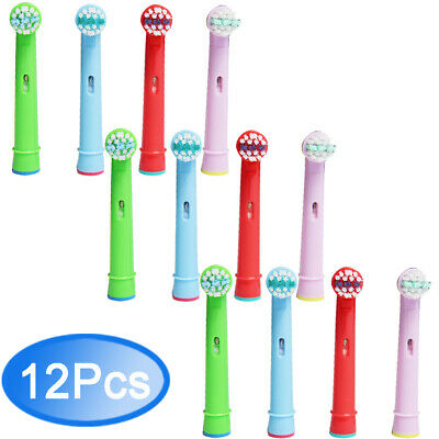 12 Pcs Toothbrush Heads Fits Oral B Stages Power Kid Electric Teeth Brush UK Top
