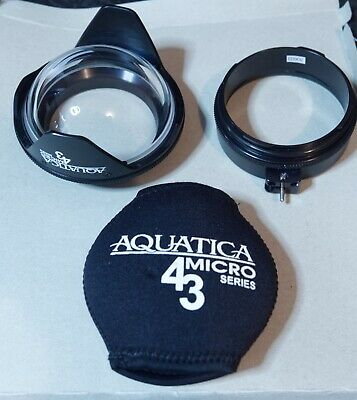 Aquatica (#30200) Dome port with (#30603) Extension ring and lens protector