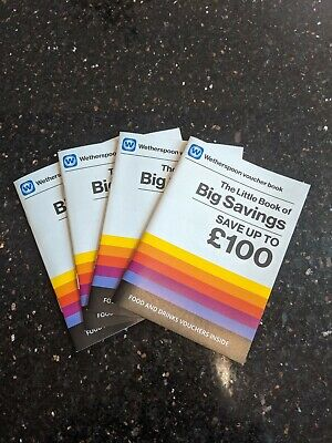 Wetherspoon's Voucher Booklets: 3 for £4! The best deal. Fast delivery