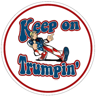 5 pack President Trump Keep On Trumpin 2020 American Political Decal Deplorable