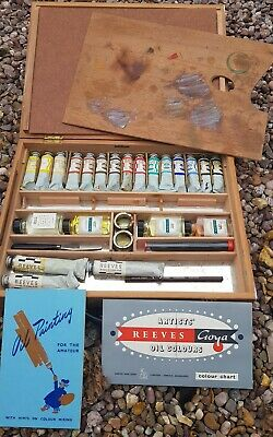 reeves artists oil painting set vintage goya oil paint