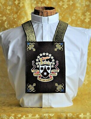 Our Lady of Mount Carmel Deluxe XL Ceremonial Brown Wool Scapular with OLMC Box