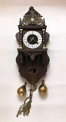 Vintage Durch Wall Clock Chimes On A Bell