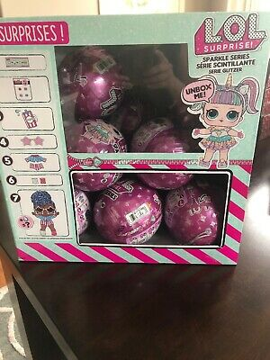 LOL SURPRISE CASE OF 12 SPARKLE SERIES DOLLS BALLS w/ DISPLAY BOX IN HAND!!