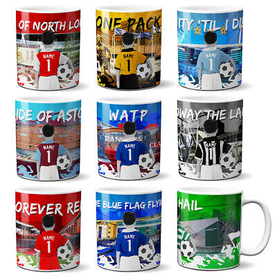 Boys Football Mug Childrens Cup Personalised Kids Christmas Gift ALL TEAMS