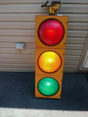 Retired Traffic Signal - Traffic Light With Hanger - Wired And Ready To Go!