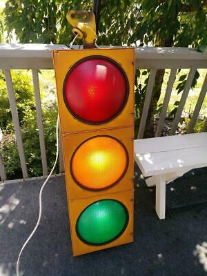 Retired Traffic Signal - Traffic Light W/ Hanger - Wired And Ready To Go!