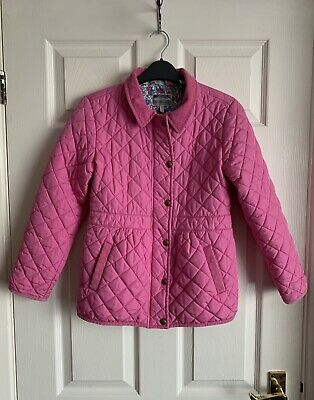 Joules Girls Pink Quilted Jacket Coat Size 9-10 Years