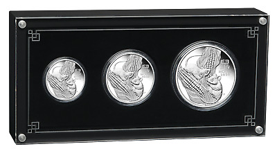 2020 Australia Lunar Year of the Mouse Silver Proof 3-Coin Set 2oz 1oz 1/2oz
