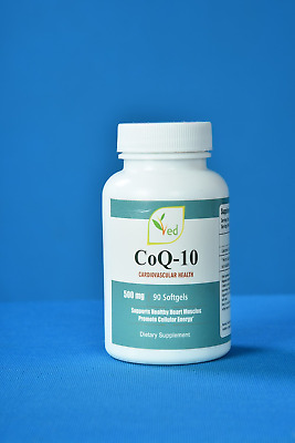 Co Enzyme Q10 500mg 90 Capsules Softgels GMP Guaranteed Quality