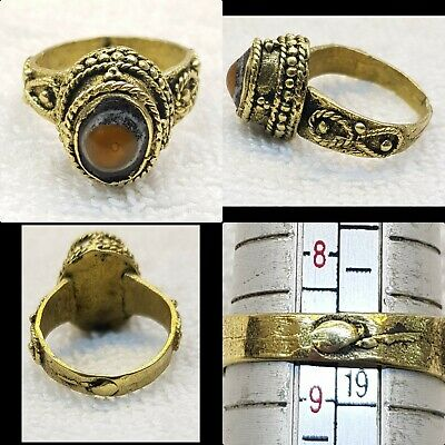 Wonderful Ancient Gabree Stone Old Brass Antique Beautiful Ring