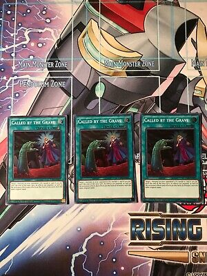 Called by the Grave x3 - EXFO-ENSE2 Super Rare Yugioh Cards