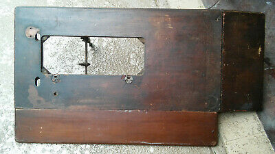 Antique Singer treadle Sewing Machine Wood top with folding side extensions