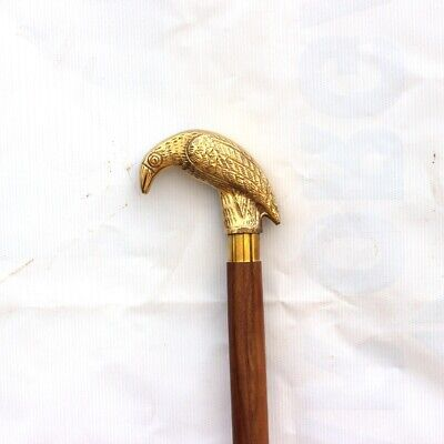Foldable Solid Victorian Walking Cane Antique Heavy Brass Eagle Walking stick