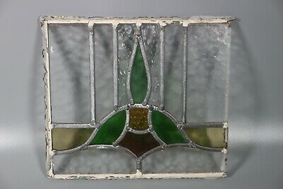 50/60s British Leaded Light Stained Glass Window Panel  #5