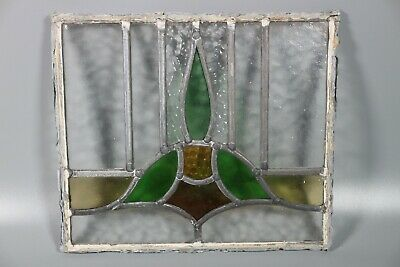 50/60s British Leaded Light Stained Glass Window Panel  #2