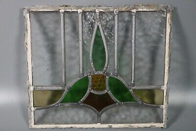 50/60s British Leaded Light Stained Glass Window Panel  #7