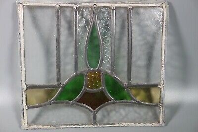 50/60s British Leaded Light Stained Glass Window Panel  #10