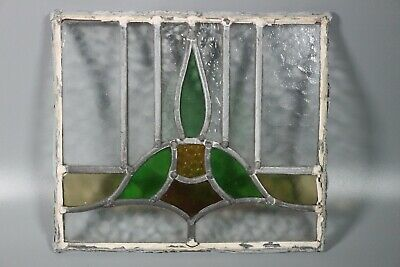 50/60s British Leaded Light Stained Glass Window Panel