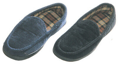 Maschismo Mens Slippers House Shoes Corduroy Slip On Moccasin Indoor Outdoor