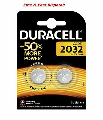 Duracell CR2032 3v LITHIUM Coin Cell Batteries Twin Pack DL2032 Buy 2 Get 1 Free