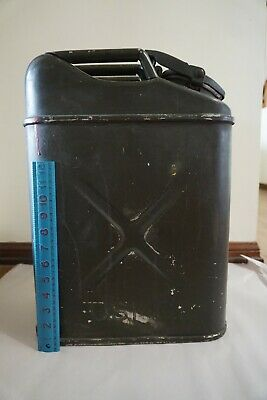 Vintage USMC Green Metal Gas Jerry Can Military 5 Gallon Fuel Water Congo