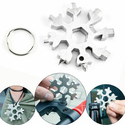 18-in-1 Multi-tool Combination Compact Portable Outdoor Snowflake Tools Card