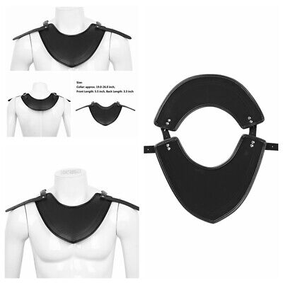 Handmade Armor Gorget Medieval Knights PU Leather Neck Protector Warrior Costume