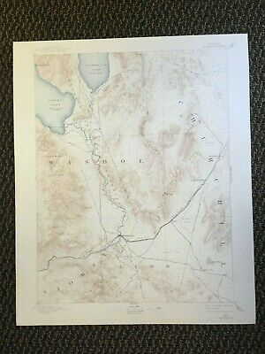 Vintage USGS Wadsworth Nevada 1894 Topographic Map 1942