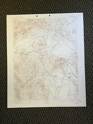 Vintage USGS Wabuska Nevada 1894 Topographic Map 1942