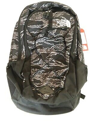 New North Face Jester Backpack Black Tiger Camo Print 28L Laptop Sleeve