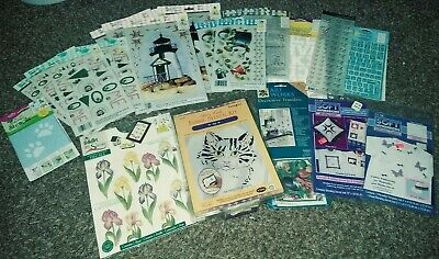 Fabric Appliques, Fabric Stencils, & Transfers Huge Lot - Over 30 Items