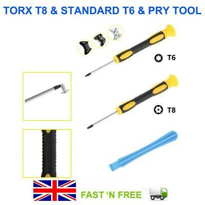 Xbox PS4/3 Console Opening Tool and Security Screwdrivers Kit Torx T8 T6 Repair